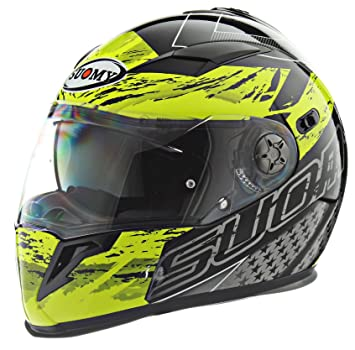 Suomy casco de Halo Drift amarillo