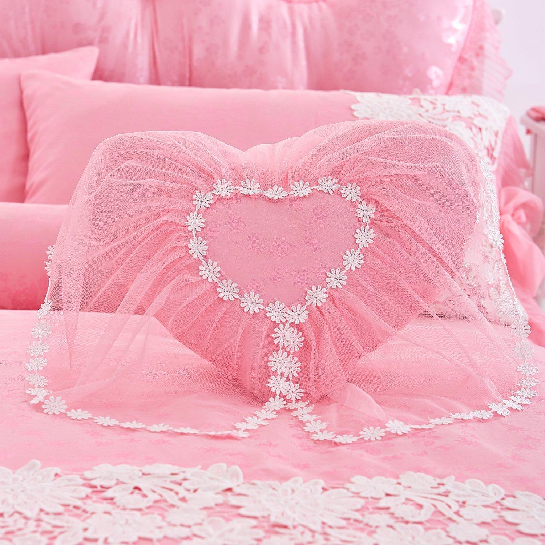 Wedding bed sheet set - Girls Bedding Sets White Lace Ruffle Duvet Cover