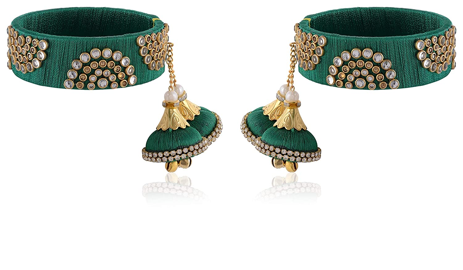 AakarShana Jewels Silk Thread Bangles Exclusively Made in India Hand Crafted Colourful Vibrant Beautiful Worn on All Occassions Traditional Functions Weddings Ethnic Wear and Party Wear