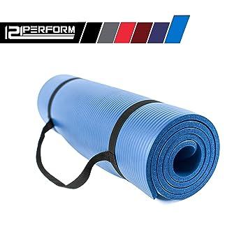 Esterilla antideslizante para yoga, de 121PERFORM, gruesa, de alta densidad, con bolsa de almacenamiento, multiusos, para pilates, acampadas, ...