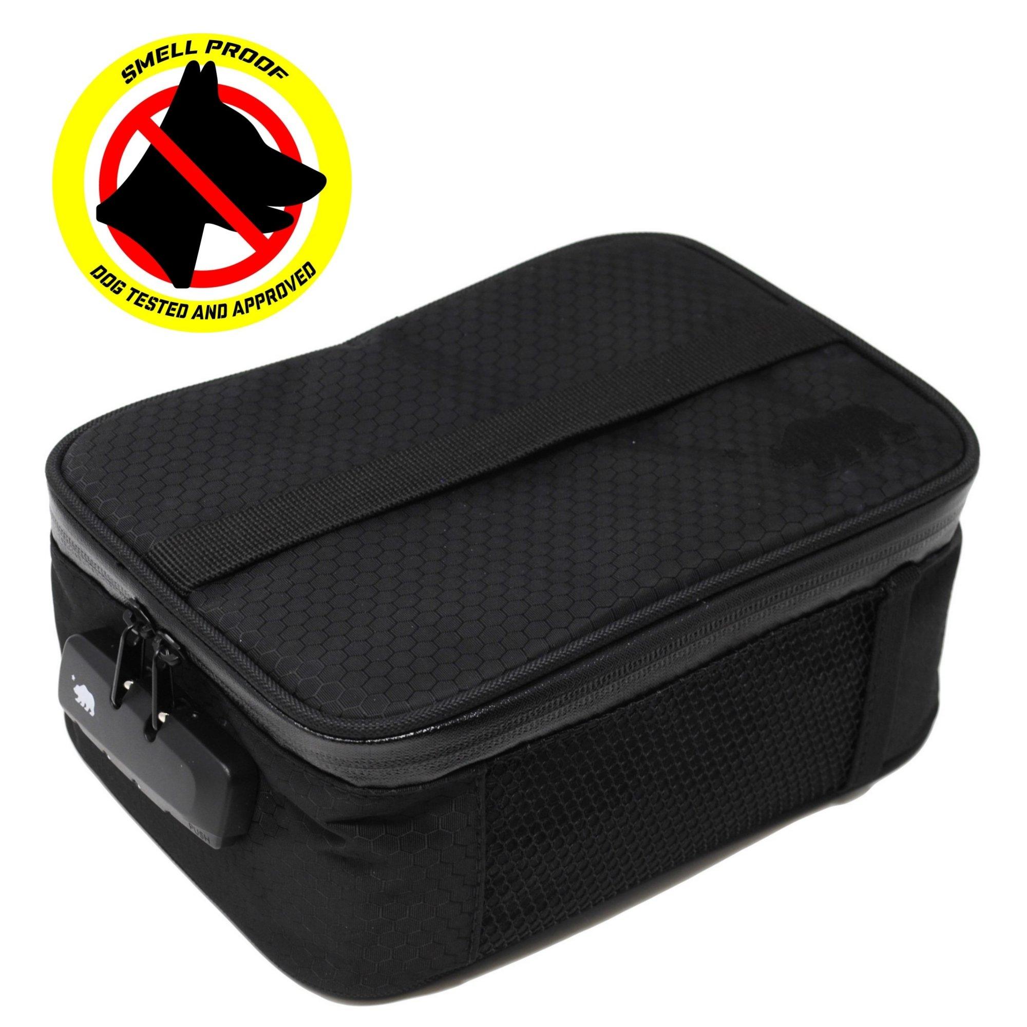 Cali Crusher 100% Smell Proof Soft Case w/Combo Lock (9in x 7in x 3.5in) (Black)