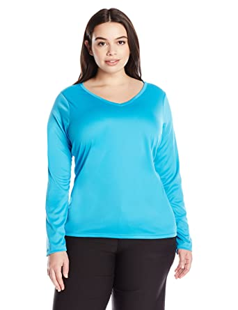 4b21d58d1f1 Kanu Surf Women s Plus-Size Solid UPF 50+ Long Sleeve Swim Shirt Rashguard  at Amazon Women s Clothing store