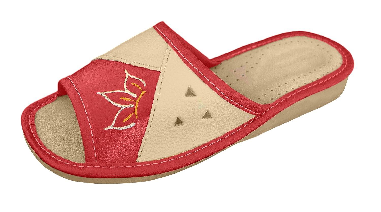Pantoufles Chaussons | | Cuir B07GRQZCHR Véritable Rouge | Femme | 91 Rouge 575f6a5 - jessicalock.space
