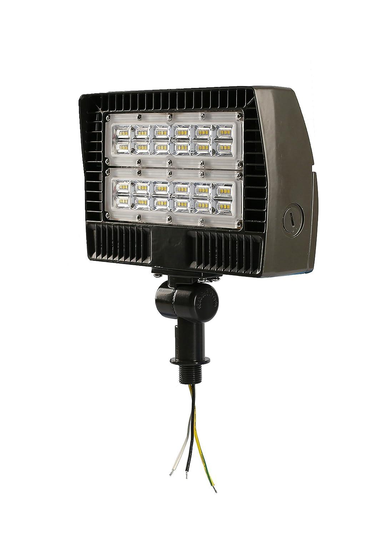 ELECALL LED Flood Light, 50W/5700Lumen, 5000K, Waterproof, IP65, 120-277V, ETL-Listed, 5 Year Warranty
