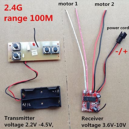 2 4G Transmitter & Receiver 4-Channel Distance 100m / Differential Turn RC  boat