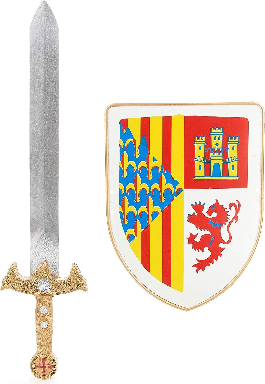 Kit escudo y espada caballero niño - Única: Amazon.es: Juguetes y juegos