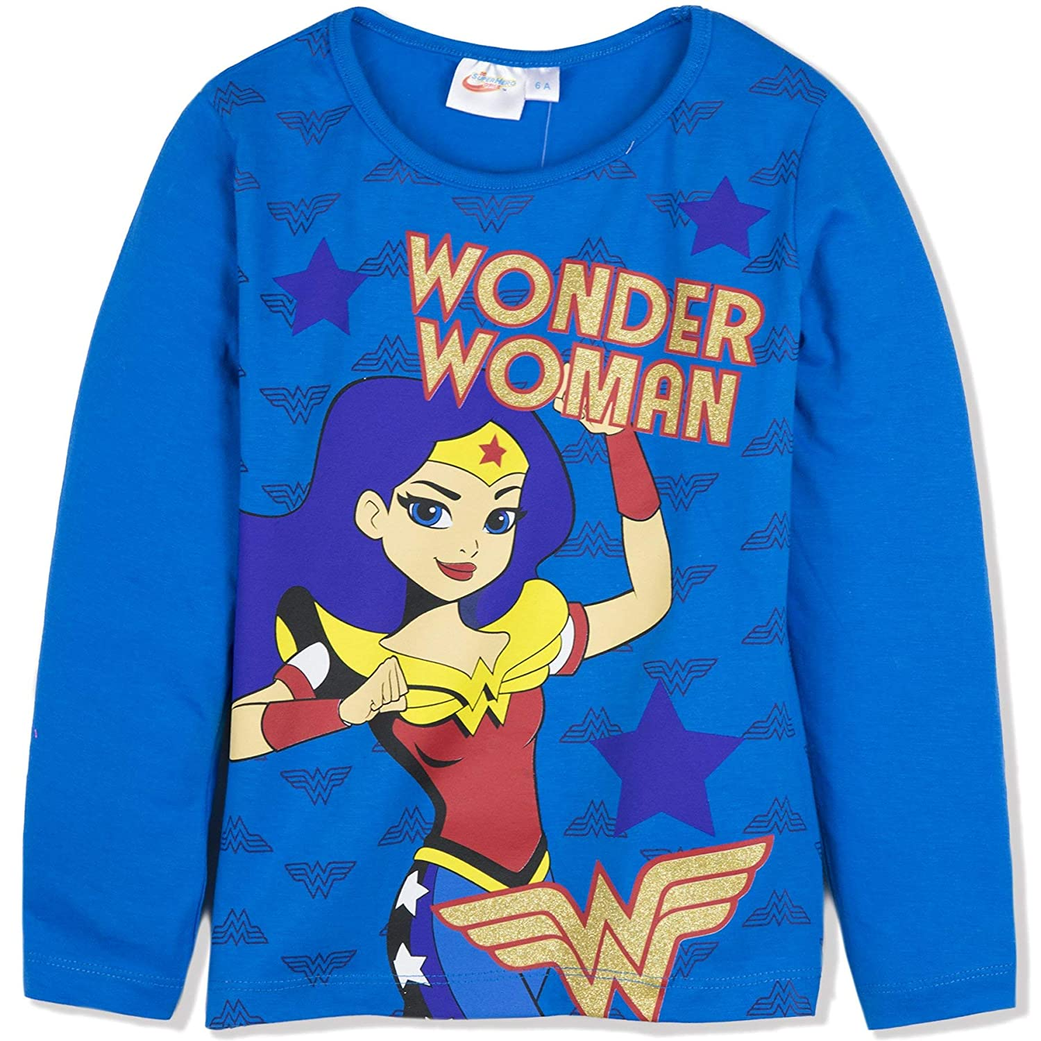DC Super Hero Girls Official Licensed Long Sleeve Top T-Shirt 100% Cotton 3-10 Years - New 2018/19