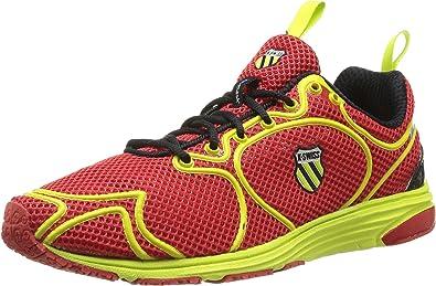 K-Swiss K Ruuz 1.5 - Zapatillas de Running de Material sintético para Hombre Rojo Rouge (Fiery Red/Optic Yellow/Black) 40: Amazon.es: Zapatos y complementos