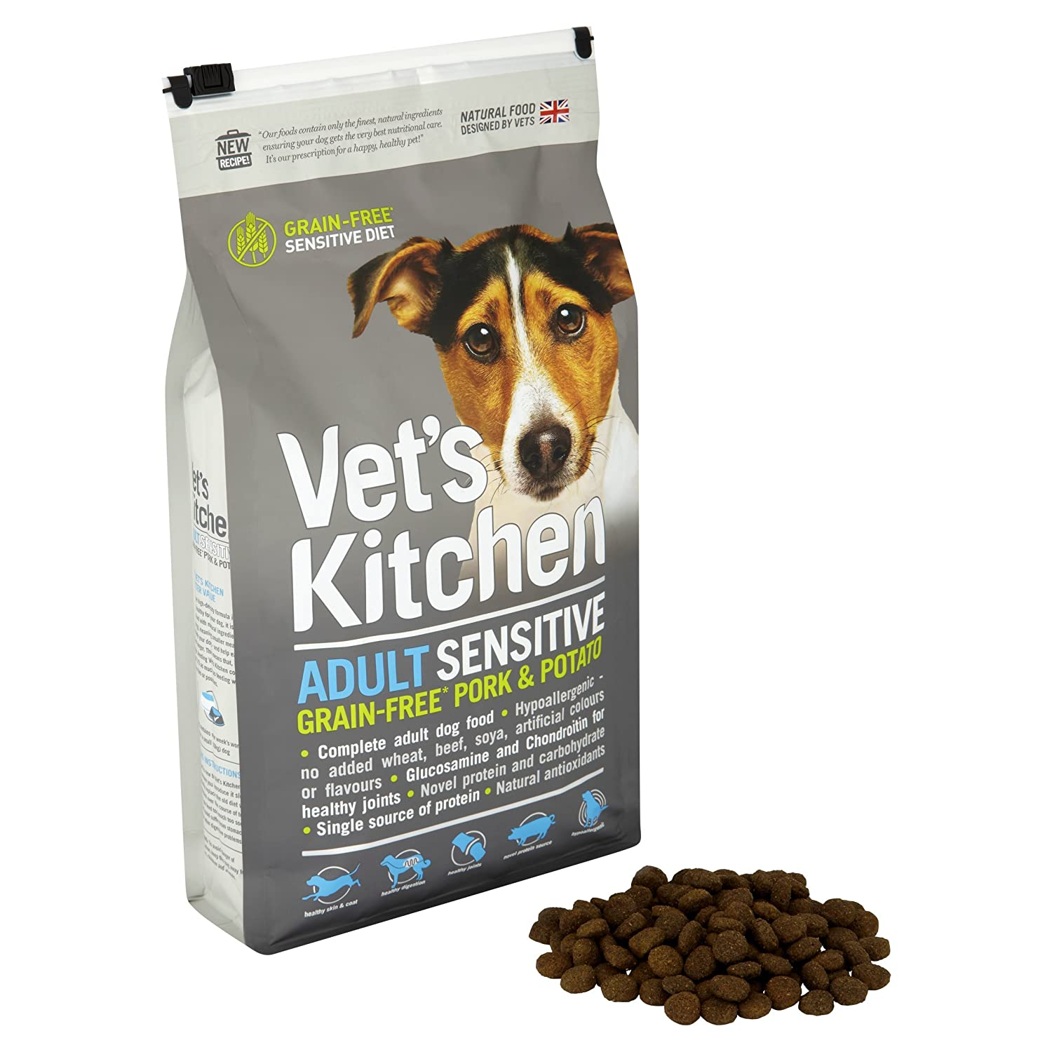 Vet\'s Kitchen Dog Food Grain Free Adult Sensitive Pork and Potato ...