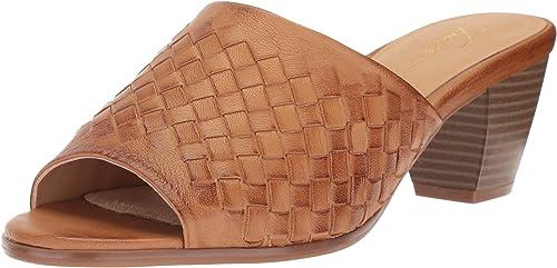 Indulge Heartthentic Gladys-10 Women Faux Suede Peep Toe Chunky Heel Mule HA12