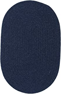 product image for Colonial Mills Solid Wool Blend Blue Moon Rug Rug Size: Runner 2' x 9'