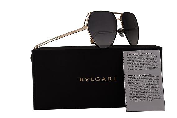 Amazon.com: Bvlgari bv6098 anteojos de sol Negro w/oro ...
