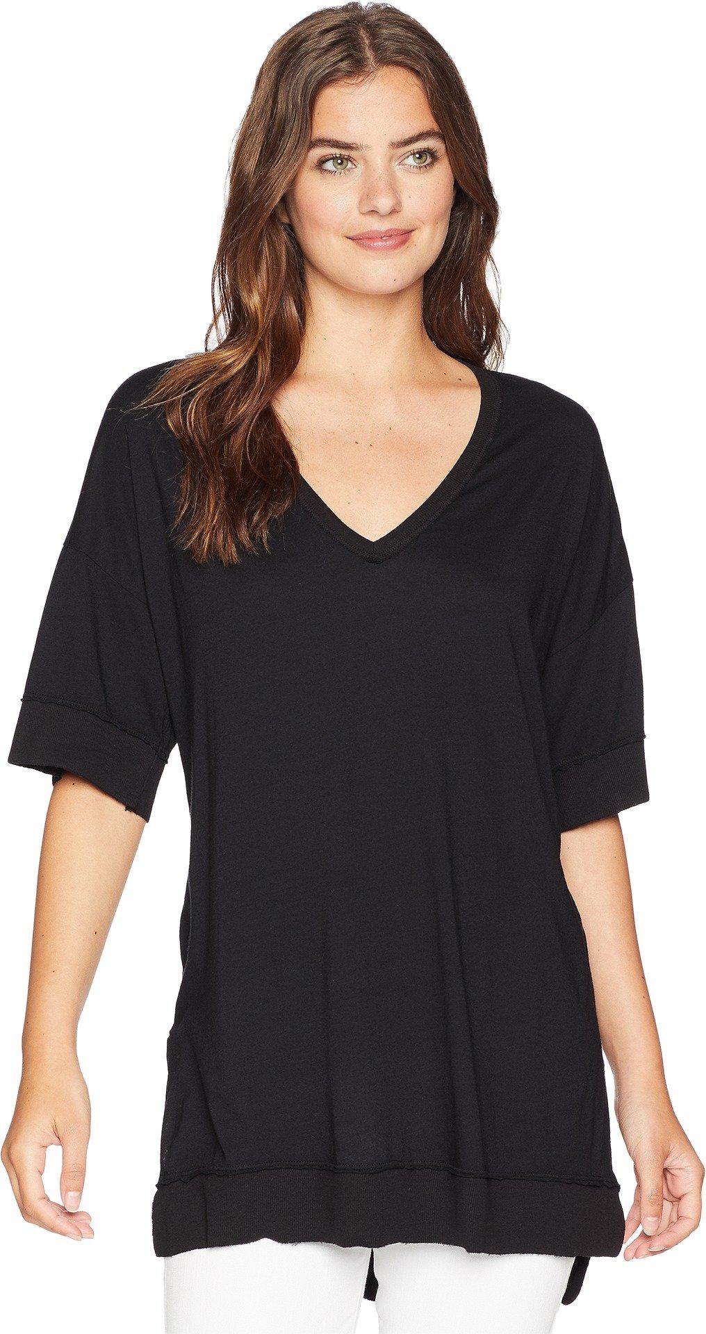 Michael Stars Women's Ultra Jersey V-Neck Tunic Black One Size