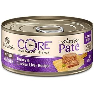 Wellness Core Natural Grain Free Wet Canned Cat Food Kitten Turkey & Chicken Liver