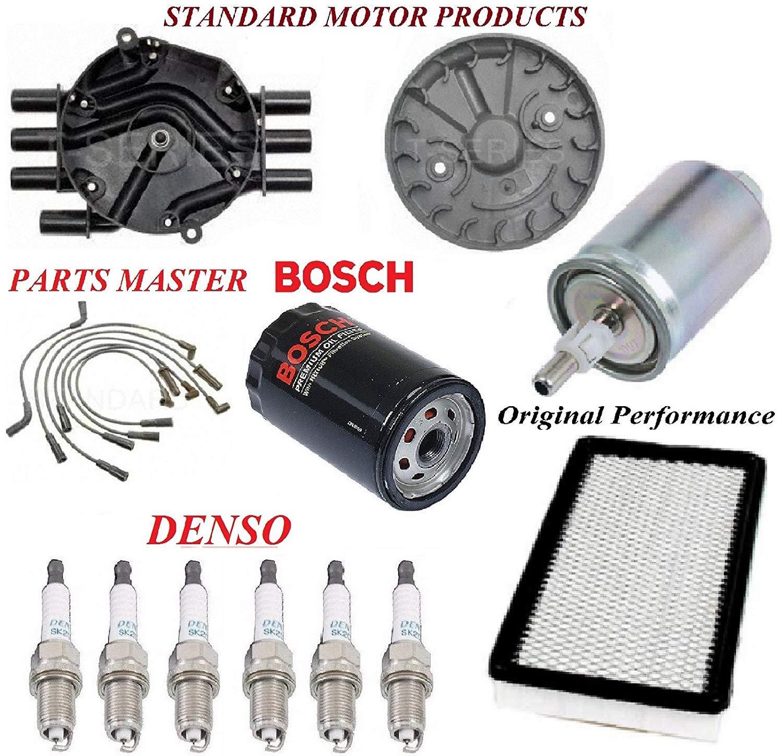 Tune Up Kit Air Oil Fuel Filters Cap Rotor Wire Spark Plug FIT OLDSMOBILE BRAVADA V6; 4.3L 1997-2001