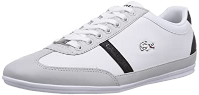 babac0705e Lacoste Misano Sport SCY Baskets Basses Homme, Blanc - Weiß (WHT/LT GRY