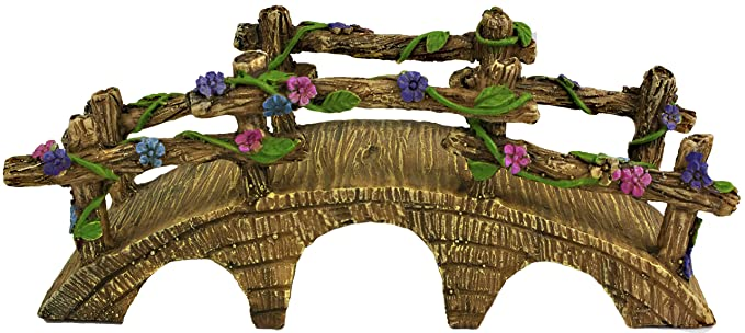 Twig & Flower The Magical Garden Fairy Bridge with Hand Painted Flowers & Vines