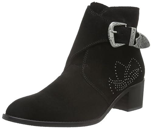 Womens Rivets Deco 27-48947 Ankle Boots Bianco G9TY4kjb2