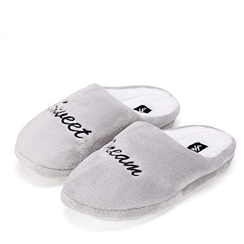 ec2e92440f0c FUNKYMONKEY Women s Winter House Slippers Casual Cozy Coral Fleece Indoor  Shoes (6 B(M