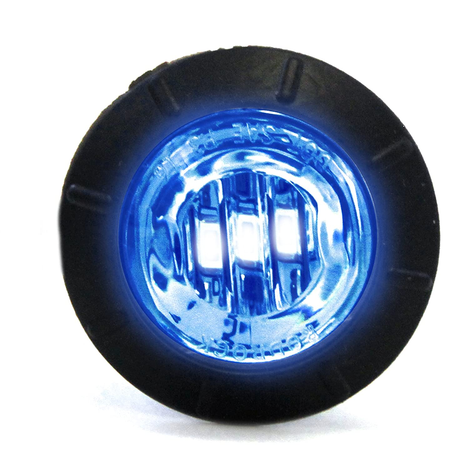Red Hound Auto Clear/Blue LED Side Marker Light 3/4' Clearance Truck Trailer Pickup Extra Bright