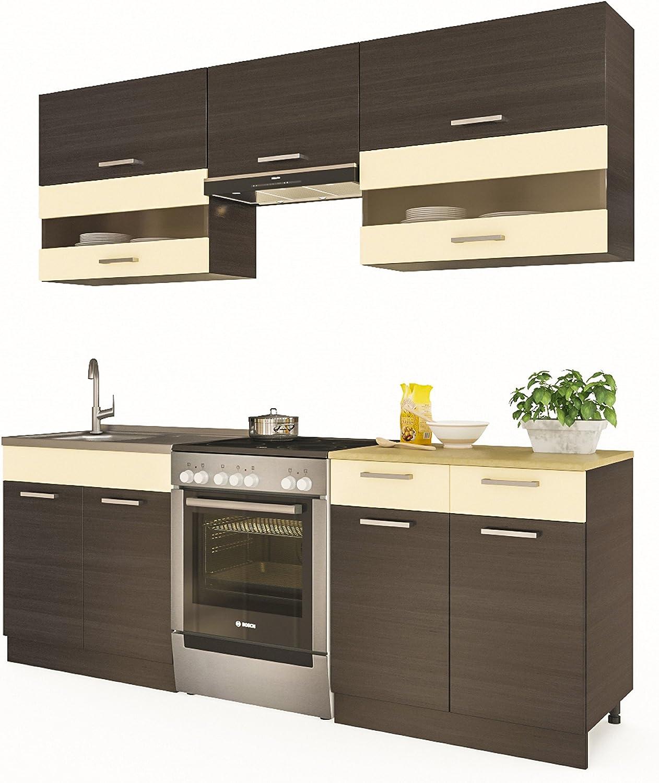 ELDORADO-MÖBEL - Mueble de Cocina Alina 220 cm empotrable: Amazon.es: Hogar