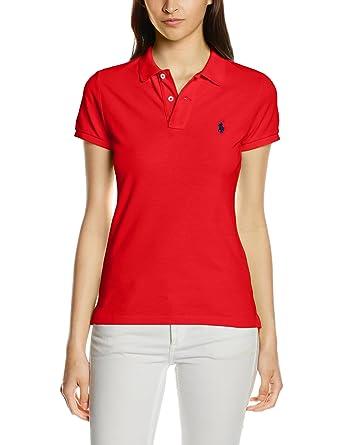 half off a42af d47f4 Polo Ralph Lauren Damen Poloshirt Skinny Fit Ss KNT: Amazon ...