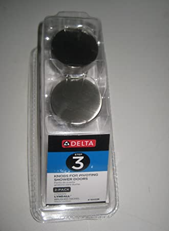 delta lyndall knob for pivoting shower door in nickel - Delta Shower Doors