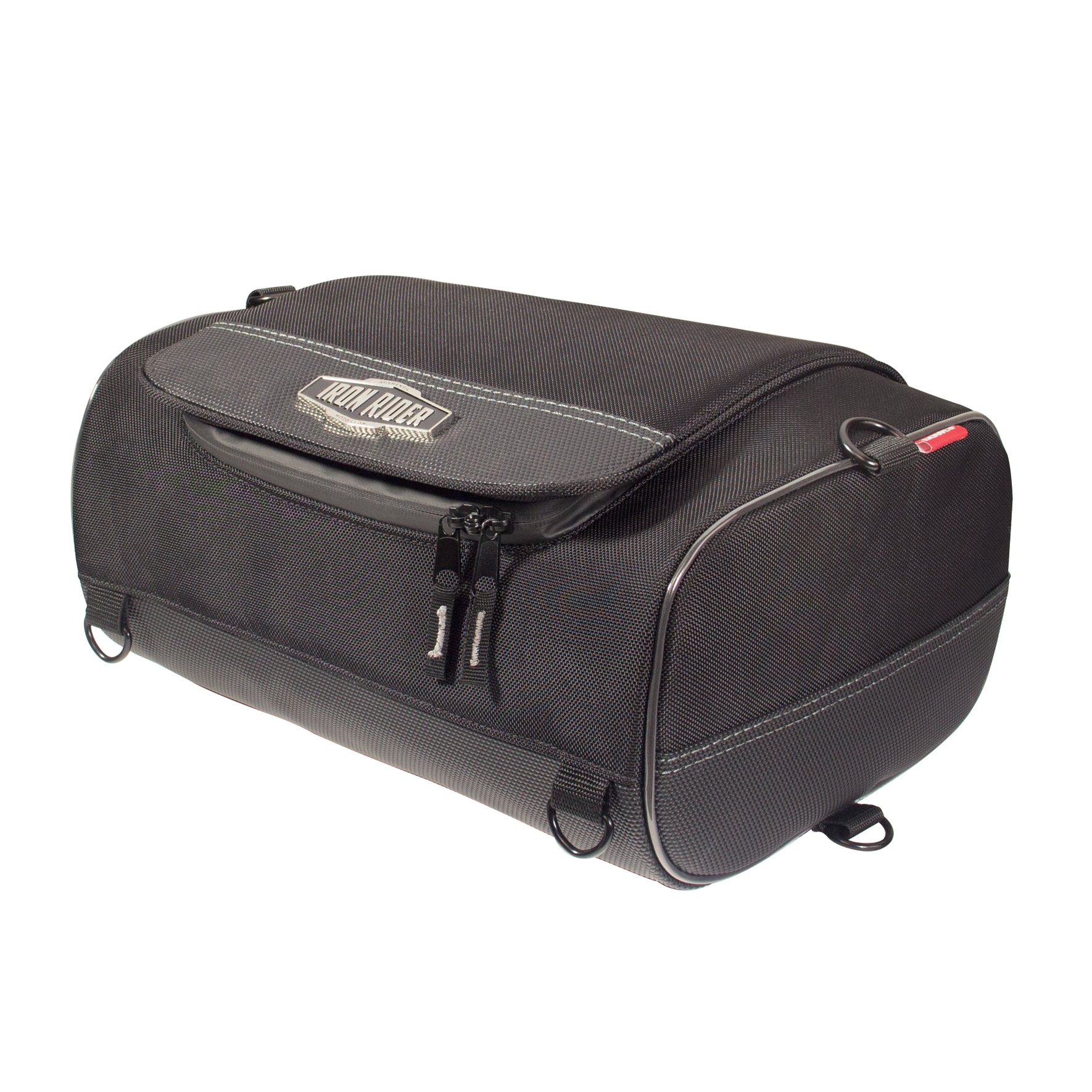 Dowco Iron Rider by 50127-00 Water Resistant Reflective Motorcycle Roll Bag: Black, Small, 15 Liter Capacity