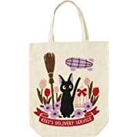 """Marushin Kiki's Delivery Service""""Jiji in a Field with Broom"""" Tote Bag - Official Studio Ghibli Merchandise"""