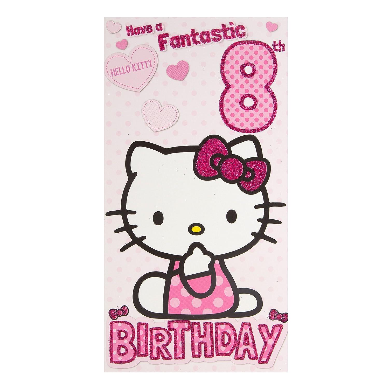 Hello Kitty 8 A partir de cumpleaños con texto en inglés ...