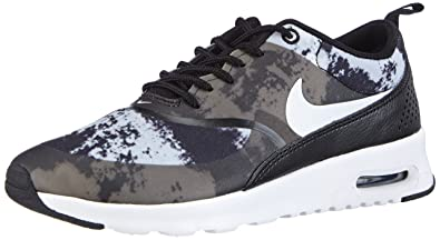 the best attitude f91ae 81e6a NIKE Air Max Thea Print, Unisex Adults  Low-Top Sneakers, Black (