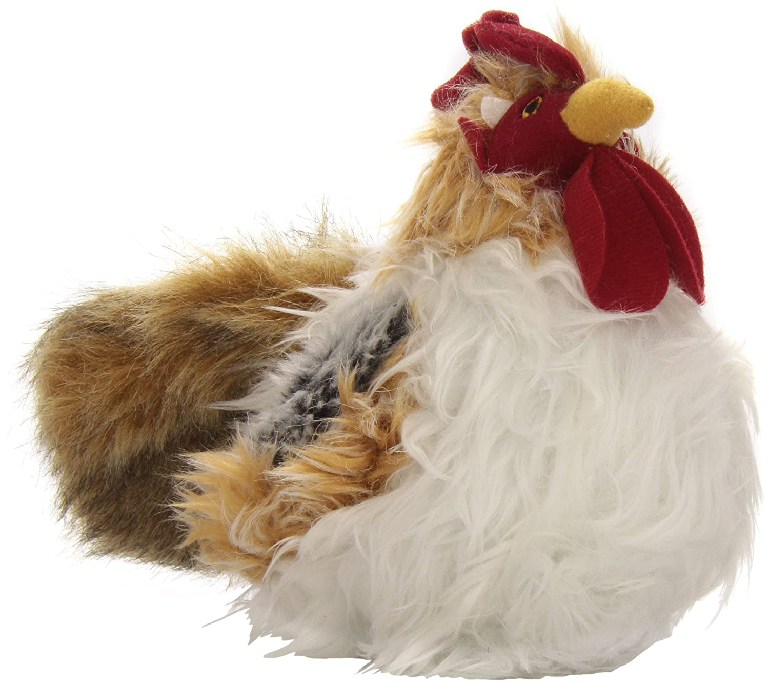 goDog Rooster Ball Dog Toy with Chew Guard Technology