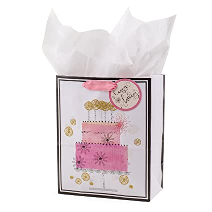 Amazon Hallmark Medium Birthday Gift Bag With Tissue Paper