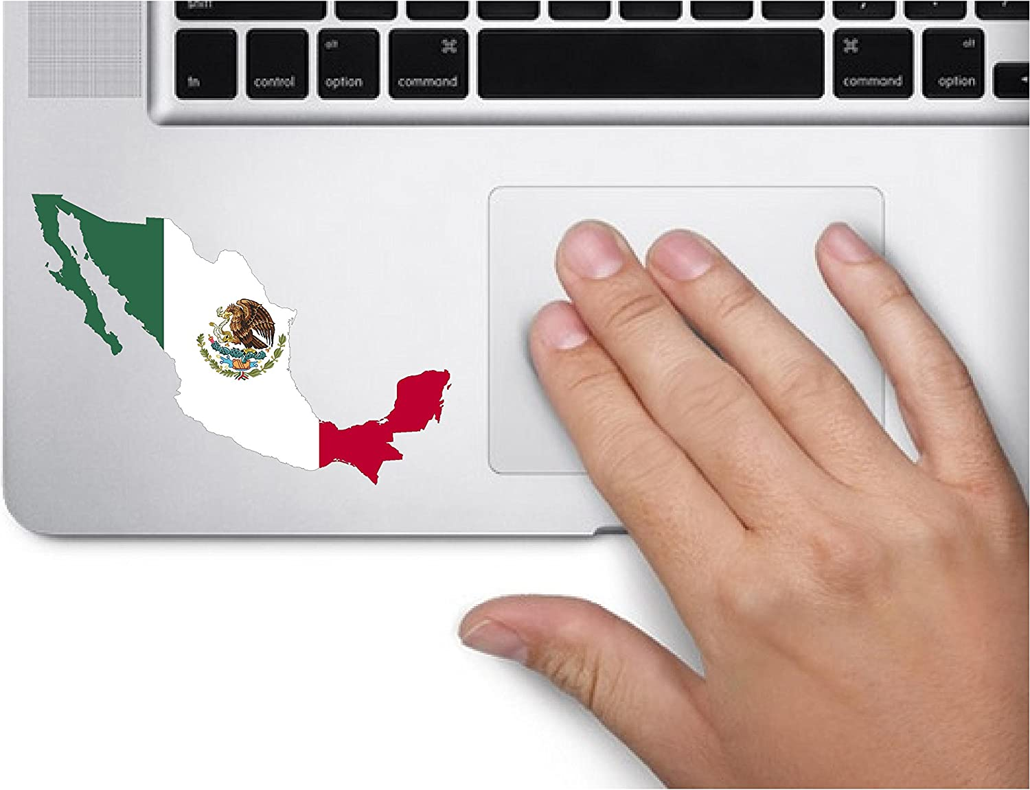 Map with Flag Inside Mexico 4x2.8 inches Sticker Decal die Cut Vinyl - Made and Shipped in USA