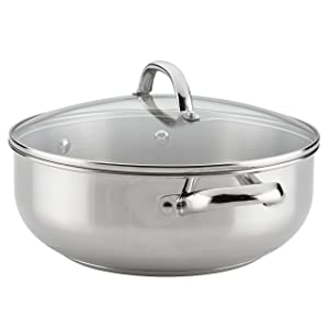 Farberware Buena Cocina Stainless Steel Covered Casserole, 6-Quart, Silver