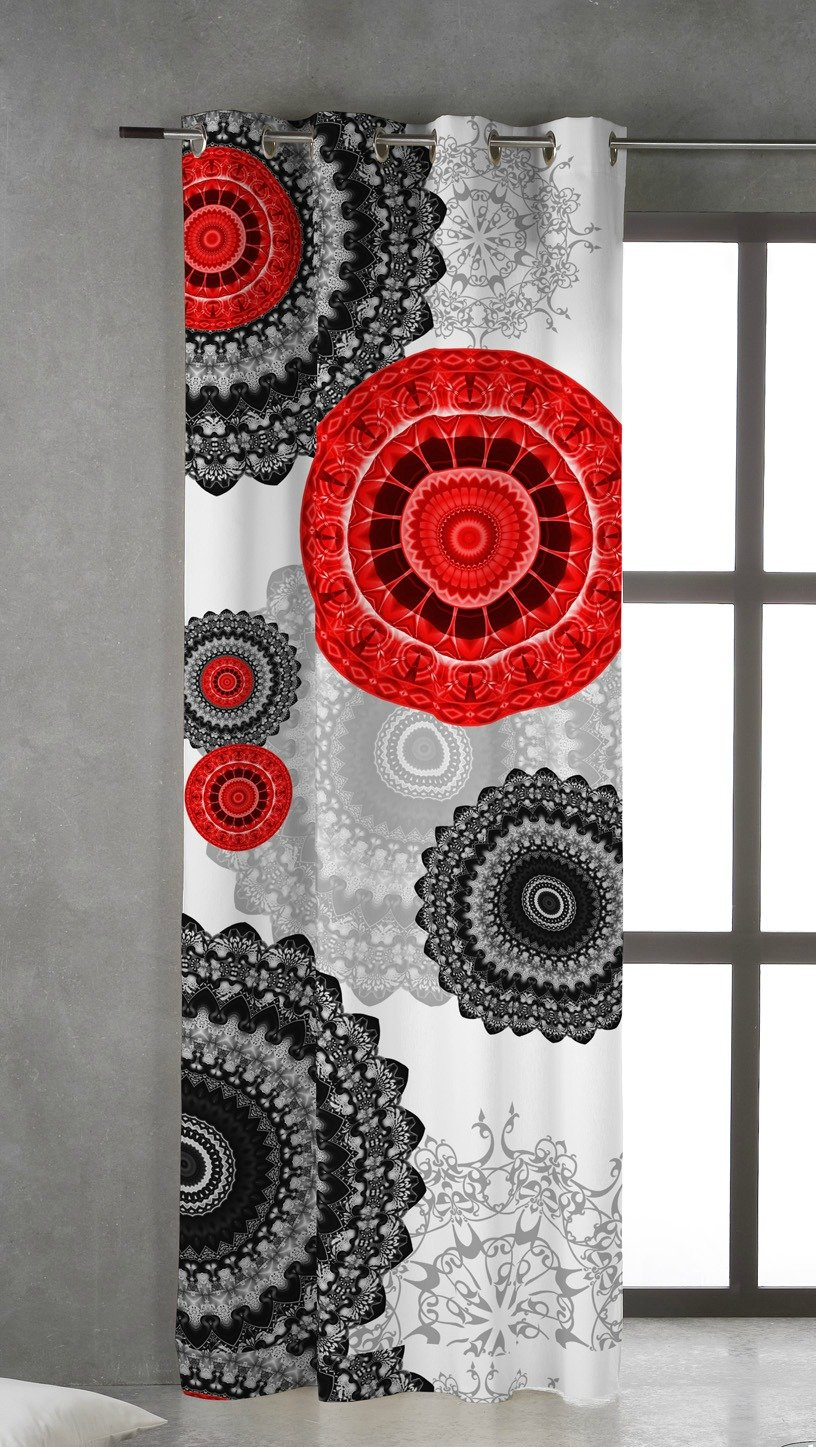 Naturals 400 Gr coj&Iacuten, algodón, Rojo/Gris, 50 x 50 cm ...