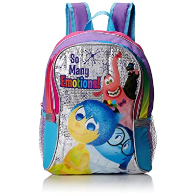 """Disney Girl's Inside Out 16"""" inches Backpack - So Many Emotions !"""