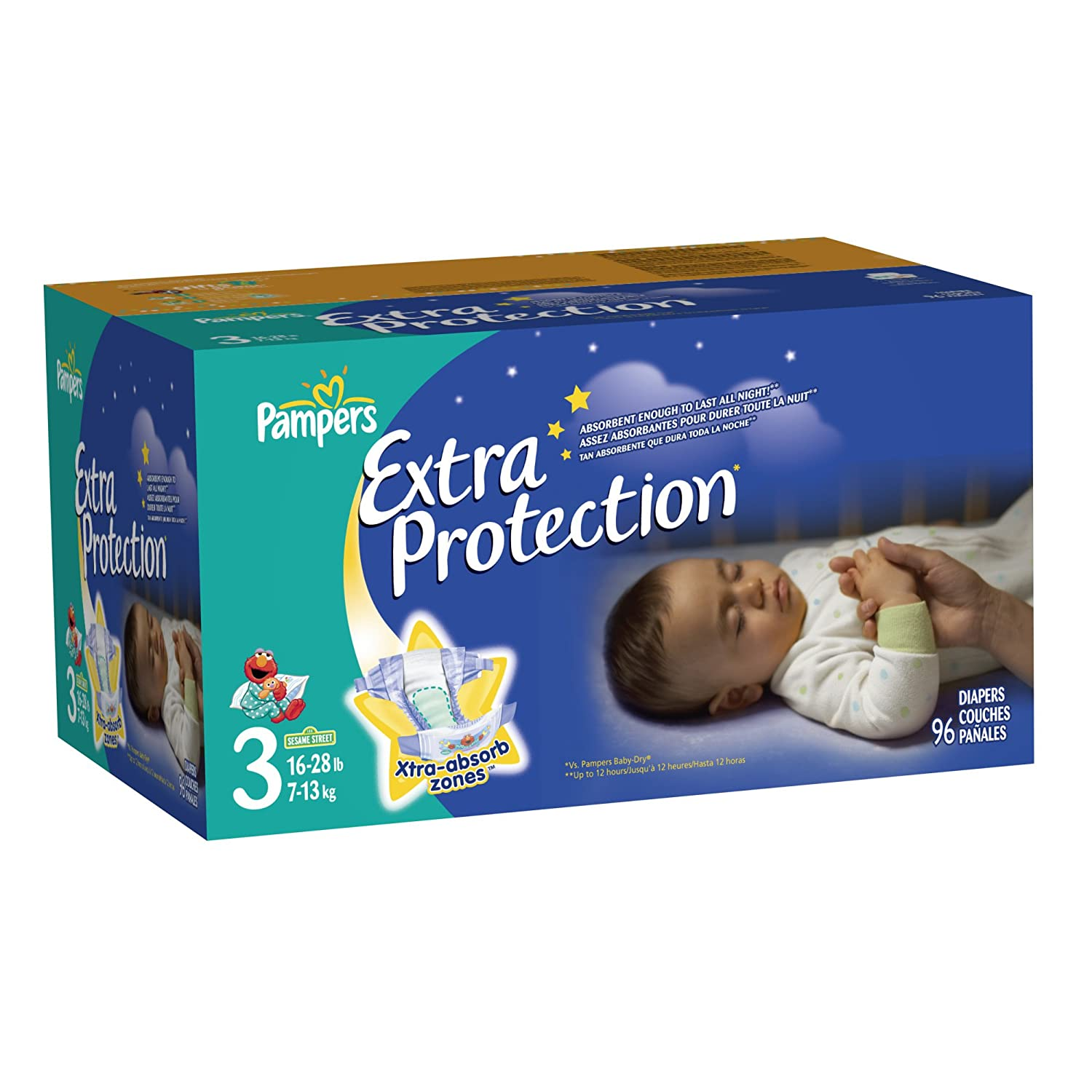 Amazon pampers extra protection nighttime diapers super pack amazon pampers extra protection nighttime diapers super pack size 3 96 count health personal care nvjuhfo Image collections