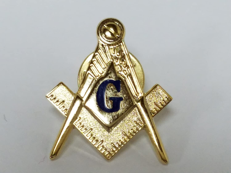 Square /& Compasses Masonic Freemason Lapel Pin 1 Blue G
