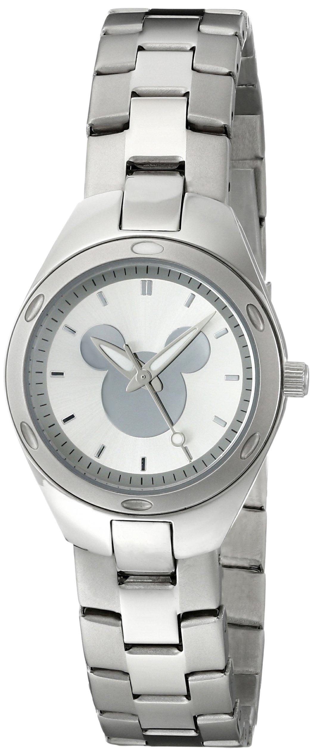 Disney Women's W001908 Mickey Mouse Silver-Tone Watch