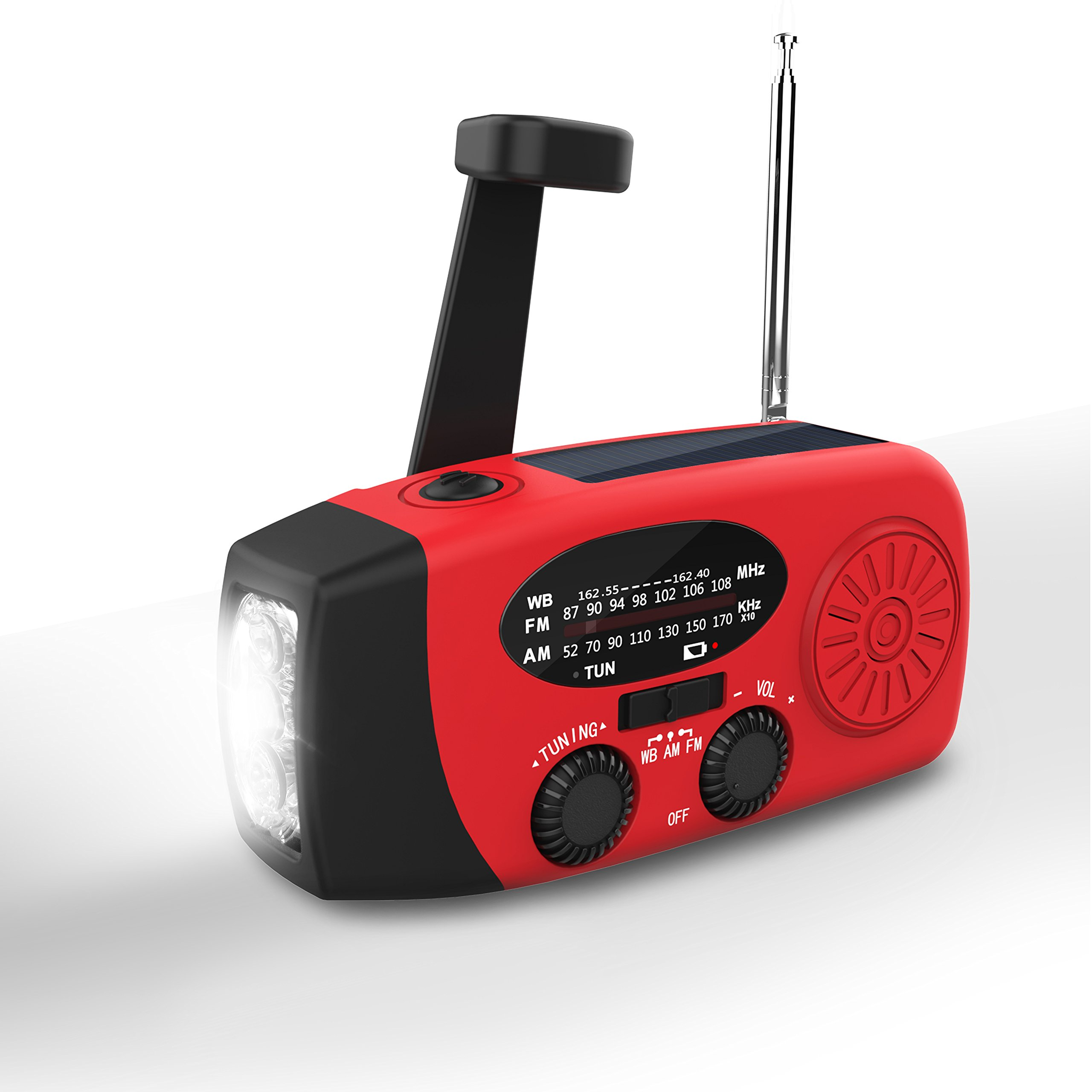 Hand Crank Radio,Valoin 2018 Multi-functional Hand Crank Flashlight with FM NOAA Weather Radio for Emergency/Camping/Outdoor Survival and More