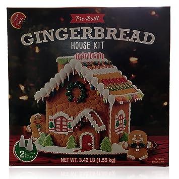 Amazon pre built gingerbread house kit build it yourself pre built gingerbread house kit build it yourself gingerbread house decorating kit perfect solutioingenieria Image collections