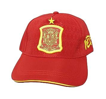 DRAPS Gorra Roja Adulto - Escudo Amarillo España y Estrella de Campeón del Mundo: Amazon.es: Deportes y aire libre