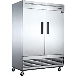 Dukers D55R 40.7 cu. ft. 2-Door Commercial Refrigerator