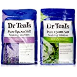 Amazon Price History for:Dr. Teals Epsom Salt Soaking Solution Bundle - 1 Relax & Relief Eucalyptus Spearmint 3lbs and 1 Sooth & Sleep Lavender 3lbs
