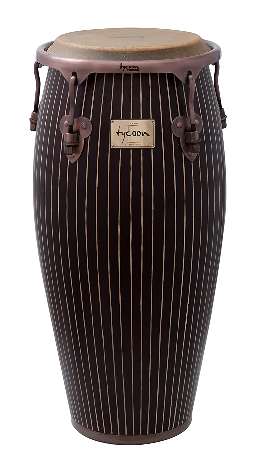 Tycoon Percussion 12 1/2 Inch Master Hand Crafted Pinstripe Series Tumba With Single Stand MTCHC-130 AC/S T1