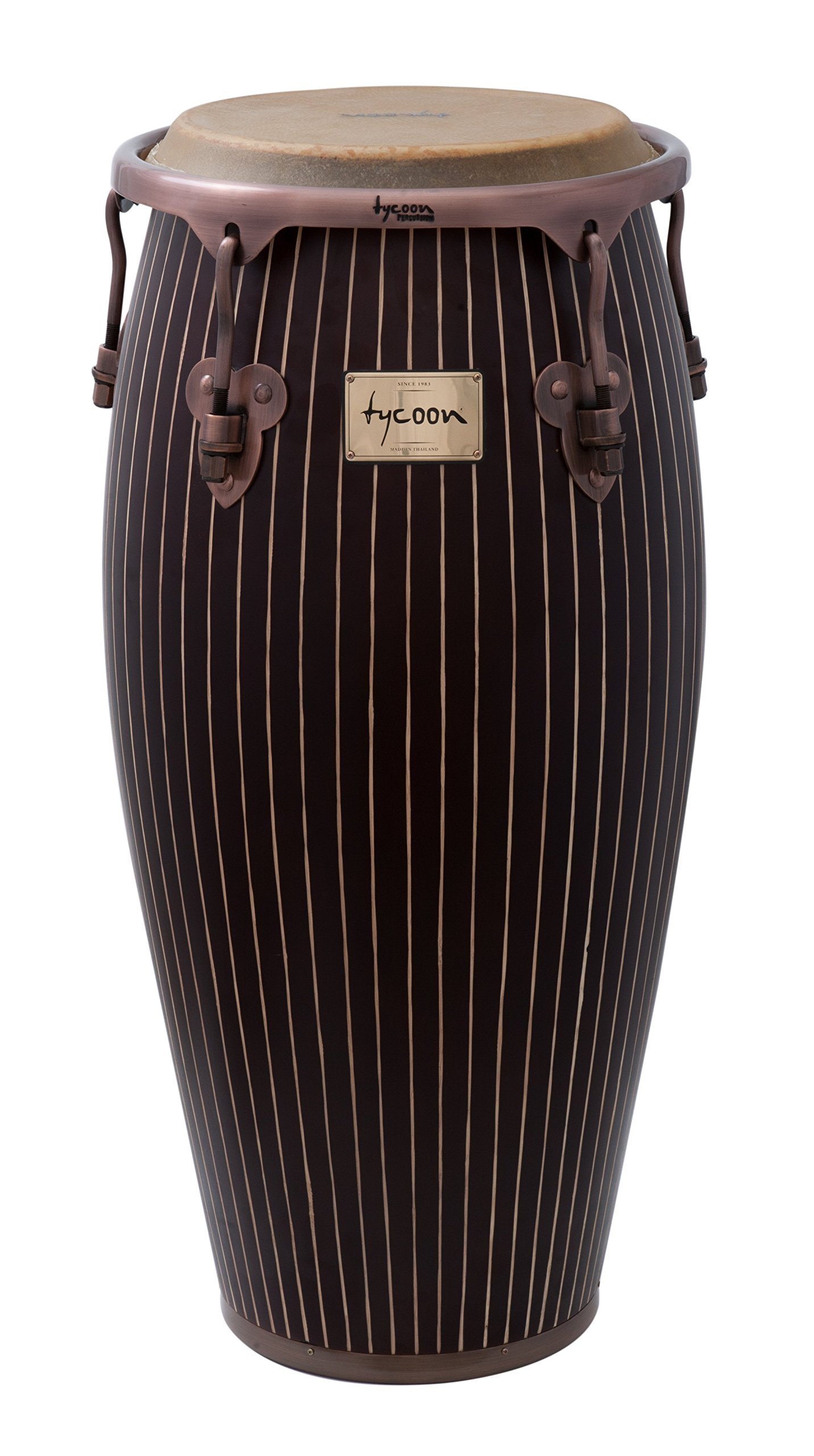 Tycoon Percussion 12 1/2 Inch Master Hand Crafted Pinstripe Series Tumba With Single Stand