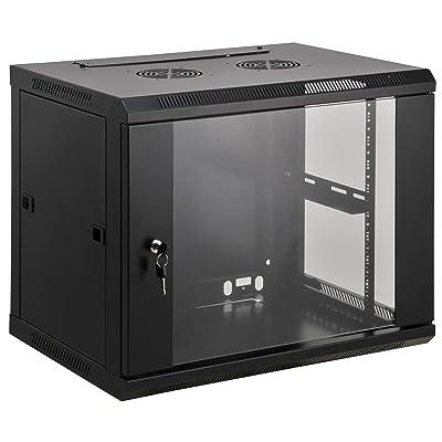 'INTELLINET 19Wall Cabinet 9 Black Black 6 HE 37x60x60montiert: Computers & Accessories