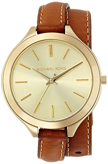 2db37adfafbc Image Unavailable. Image not available for. Color  Michael Kors Women s  Runway Brown Watch MK2256