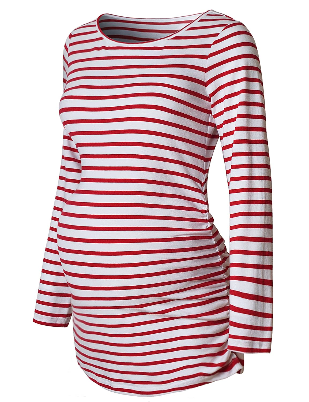 Bhome SHIRT レディース B075TT3YBL L|Red Strip and and White Strip Bhome Red and White Strip L, 【通販 人気】:69f4e27b --- ojurista.com